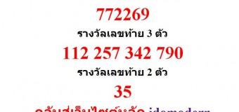 หวยออกงวด 16 กันยายน 2557 (16-09-57) หวยงวดล่าสุด ผลสลากกินแบ่งรัฐบาล