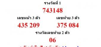 หวยออกงวด 16 กันยายน 2558 (16-09-58) หวยงวดล่าสุด ผลสลากกินแบ่งรัฐบาล
