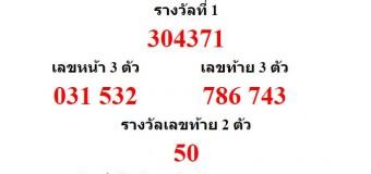 หวยออกงวด 17 มกราคม 2559 (17-01-59) หวยงวดล่าสุด ผลสลากกินแบ่งรัฐบาล
