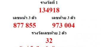 หวยออกงวด 16 มีนาคม 2559 (16-03-59) หวยงวดล่าสุด ผลสลากกินแบ่งรัฐบาล