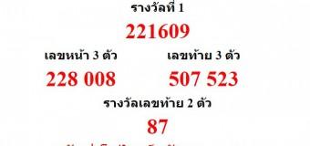 หวยออกงวด 16 เมษายน 2559 (16-04-59) หวยงวดล่าสุด ผลสลากกินแบ่งรัฐบาล
