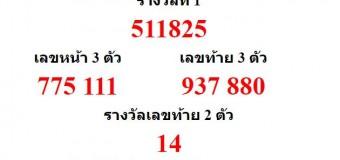 หวยออกงวด 1 มิถุนายน 2559 (1-05-59) หวยงวดล่าสุด ผลสลากกินแบ่งรัฐบาล
