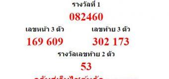 หวยออกงวด 1 กรกฎาคม 2559 (1-07-59) หวยงวดล่าสุด ผลสลากกินแบ่งรัฐบาล