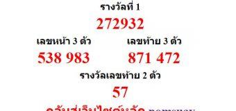 หวยออกงวด 1 สิงหาคม 2559 (1-08-59) หวยงวดล่าสุด ผลสลากกินแบ่งรัฐบาล