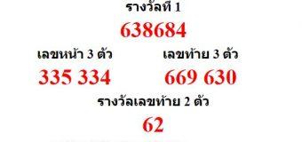 หวยออกงวด 1 กันยายน 2559 (1-09-59) หวยงวดล่าสุด ผลสลากกินแบ่งรัฐบาล