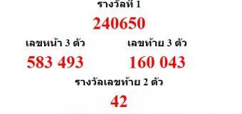 หวยออกงวด 16 กันยายน 2559 (16-09-59) หวยงวดล่าสุด ผลสลากกินแบ่งรัฐบาล