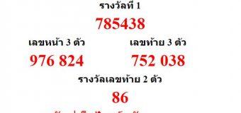 หวยออกงวด 1 พฤศจิกายน 2559 (1-11-59) หวยงวดล่าสุด ผลสลากกินแบ่งรัฐบาล