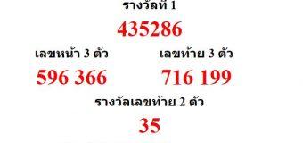 หวยออกงวด 16 ธันวาคม 2559 (16-12-59) หวยงวดล่าสุด ผลสลากกินแบ่งรัฐบาล