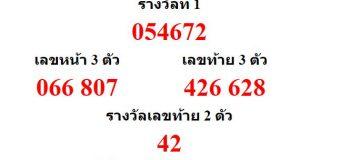 หวยออกงวด 1 กุมภาพันธ์ 2560 (01-02-60) หวยงวดล่าสุด ผลสลากกินแบ่งรัฐบาล