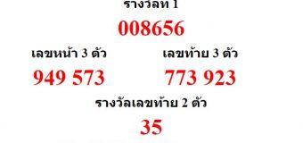 หวยออกงวด 2 พฤษภาคม 2560 (2-05-60) หวยงวดล่าสุด ผลสลากกินแบ่งรัฐบาล