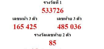 หวยออกงวด 1 พฤศจิกายน 2560 (01-11-60) หวยงวดล่าสุด ผลสลากกินแบ่งรัฐบาล