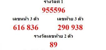 หวยออกงวด 16 ธันวาคม 2560 (16-12-60) หวยงวดล่าสุด ผลสลากกินแบ่งรัฐบาล