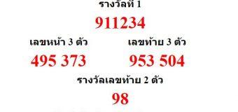 หวยออกงวด 30 ธันวาคม 2560 (30-12-60) หวยงวดล่าสุด ผลสลากกินแบ่งรัฐบาล