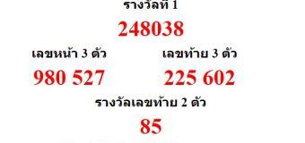 หวยออกงวด 2 พฤษภาคม 2561 (2-05-61) หวยงวดล่าสุด ผลสลากกินแบ่งรัฐบาล