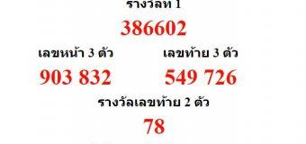 หวยออกงวด 1 สิงหาคม 2561 (1-08-61) หวยงวดล่าสุด ผลสลากกินแบ่งรัฐบาล