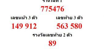 หวยออกงวด 16 สิงหาคม 2562 (16-08-62) หวยงวดล่าสุด ผลสลากกินแบ่งรัฐบาล