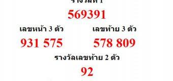 หวยออกงวด 1 สิหาคม 2563 (1-08-63) หวยงวดล่าสุด ผลสลากกินแบ่งรัฐบาล