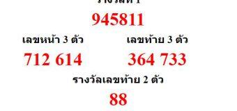 หวยออกงวด 16 สิหาคม 2563 (16-08-63) หวยงวดล่าสุด ผลสลากกินแบ่งรัฐบาล