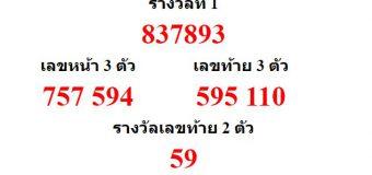 หวยออกงวด 1 ตุลาคม 2563 (1-10-63) หวยงวดล่าสุด ผลสลากกินแบ่งรัฐบาล