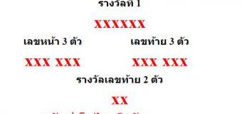 หวยออกงวด 16 พฤศจิกายน 2563 (16-11-63) หวยงวดล่าสุด ผลสลากกินแบ่งรัฐบาล