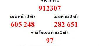 หวยออกงวด 1 กุมภาพันธ์ 2564 (1-02-64) หวยงวดล่าสุด ผลสลากกินแบ่งรัฐบาล