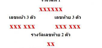หวยออกงวด 1 กรกฎาคม 2564 (1-07-64) หวยงวดล่าสุด ผลสลากกินแบ่งรัฐบาล